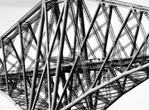 The Forth Rail Bridge, Edinburgh. B&W von David Lyons