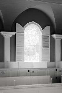 Bennington First Congregational Church, Vermont. B&W by David Lyons