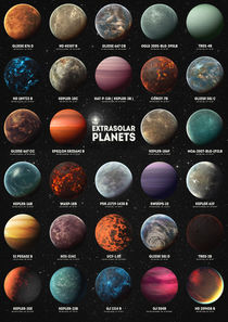 Exoplanets by olaartprints