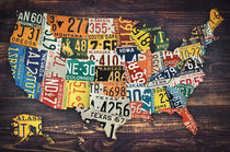 License Plate Map Of The United States von zapista