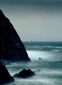 The Fastnet Light from Clear Island by David Lyons