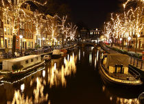Christmas mood. Amsterdam. Night time. von Galina Solonova