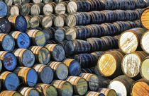 Whisky barrels in Dufftown by David Lyons