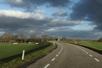 Dijk. Holland. Road. Sunny sky. by Galina Solonova