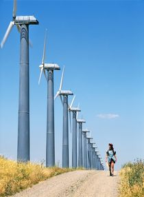 Wind farming von David Lyons