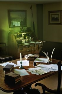 Writing desk of Moby Dick author Herman Melville von David Lyons