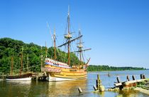 The colonial settlement of Jamestown, Virginia by David Lyons