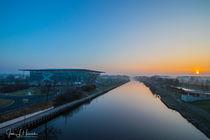 Sonnenaufgang über dem Mittellandkanal Wolfsburg by Jens L. Heinrich