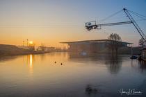 Sonnenaufgang im Allerpark Wolfsburg von Jens L. Heinrich