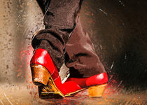 Red flamenco shoes by Elzbieta Petryka