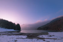 Dawn and Fog at Mountain Lake von Thomas Matzl