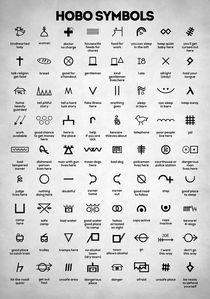 Hobo Symbols by olaartprints