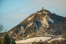 Drachenfels im Winter von Frank Landsberg