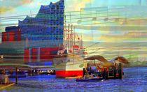 Blick zur Elbphilharmonie abstrakt by Peter Norden