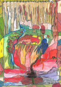 Mohnfantasie / Poppyimagination by Claudia Juliette Dittrich
