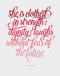She is clothed Proverbs 31:25 von zapista