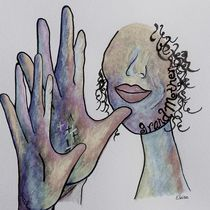 ASL Grandmother in Denim Colors von eloiseart