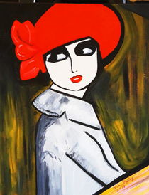 'RED POPPY GIRL' by Nora Shepley