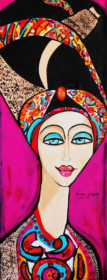 'GIRL WITH TURBIN' by Nora Shepley