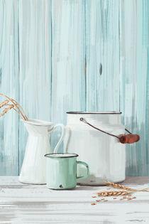 Küche Stillleben Emaille von Tobias Goldschalt
