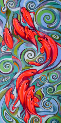 Psychedelic fish by federico cortese