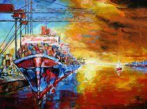 Im Hamburger Hafen by Eberhard Schmidt-Dranske