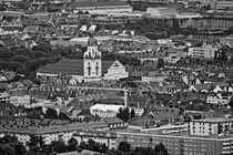 München von oben in schwarz und weiß von kattobello