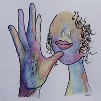 ASL Mother in Denim Colors von eloiseart