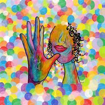 ASL Mother on Bubble Background von eloiseart