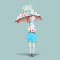 Girl with Umbrella by rebekka ivacson