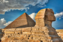 Sphynx and Great Pyramid by Andy Doyle