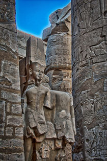 Pillars at Karnat Temple Luxor Egypt by Andy Doyle