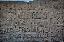 Hieroglyphics at Karnak Temple Luxor Egypt von Andy Doyle
