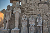 Gods at Karnak Temple Luxor Egypt by Andy Doyle