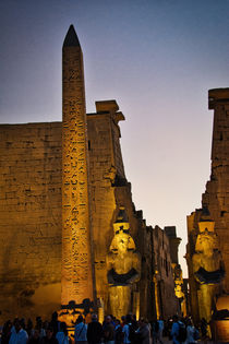 Luxor Temple at Dusk by Andy Doyle