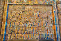 Hieroglyphics at Temple of Kom Ombo by Andy Doyle