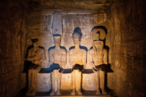 4 Gods inside Abu Simbel by Andy Doyle
