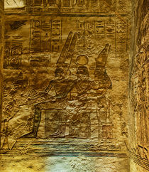 Hieroglyphics inside Abu Simbel by Andy Doyle