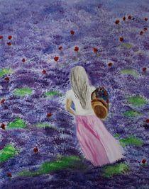 Mädchen im Lavendelfeld by yana-kott