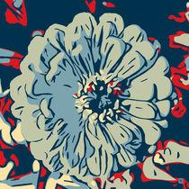 Flower red-blue_01 von Robert H. Biedermann