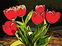 Blumen Poster Rote Tulpen 2 - WelikeFlowers by Robert H. Biedermann