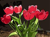 Blumen Poster Tulpen - WelikeFlowers von Robert H. Biedermann
