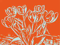 Blumen Poster Tulpen orange von Robert H. Biedermann