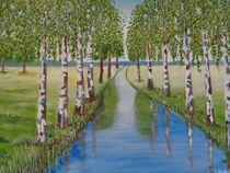 Birken im Frühling  von rita-markgraefe