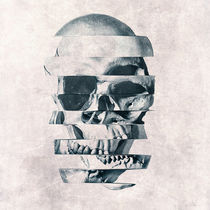 Glitch Skull Mono by Ali GULEC