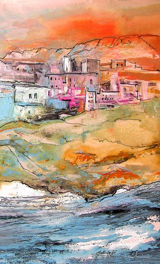 Spanish-coast-town-maman-signed