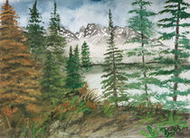 Rocky Mountains landscape painting by Derek McCrea