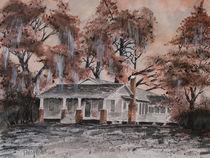 Old House Watercolor Painting Art Print by Derek McCrea