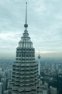 Twintowers2. Blick vom einen Zwillingsturm auf den andern by Hartmut Binder