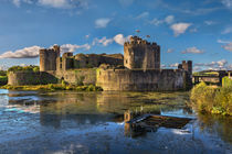 Caerphilly Castle South Facing Walls by Ian Lewis